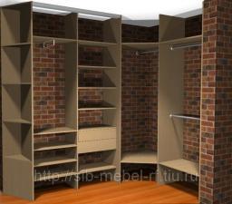 Шкафы для гардеробной комнаты №16