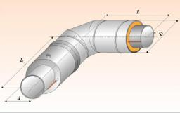 Отвод с металлической заглушкой изоляции и торцевым кабелем вывода