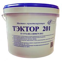Мастика полиуретановая двухкомпонентная для швов Тэктор 201 (серый, 12,5 кг)