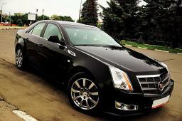 Аренда автомобиля с водителем Cadillac CTS, черный цвет 2009 г.в.