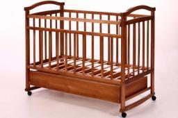 Детская кроватка Антел Ульяна-3 (колесо-качалка, ящик)