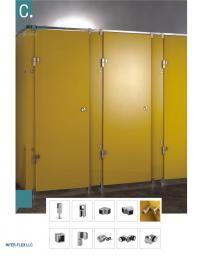 Фурнитура нержавеющая для монтажа санузлов кабин туалетных из пластика Hpl и стекла