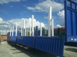 Полуприцеп бортовой «CIMC» 40 тонн, фитинги, конники