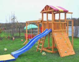 Детская игровая деревянная площадка