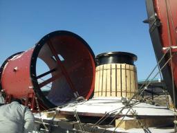 крышки загрузочная , разгрузочная и барабан для мельницы