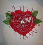 Сердце из конфет «Ключ к твоему сердцу» (21х18см)