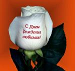 Надписи и фото на живых цветах!!!