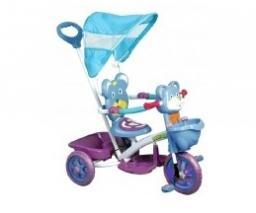 Велосипед КАНТРИ с ручкой А803-1 blue/purple