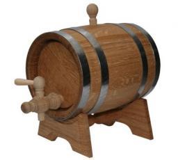 Бочка дубовая на подставке с краном 5 литров