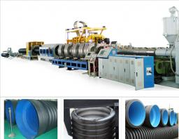 Экструзионная линия для производства двухстеновых гофрированных труб PE/PVC