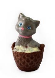 Котенок в корзинке шоколадный