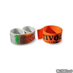 Пластиковые контрольные браслеты с логотипом
