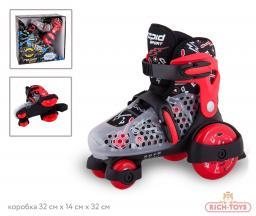Детские ролики Rapid ROL109-B Rapid Quattro, цвет: красный, размер 30-33