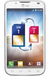 Телефон LG P715 Optimus L7 II White Dual