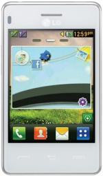 Телефон LG T375 White Titan
