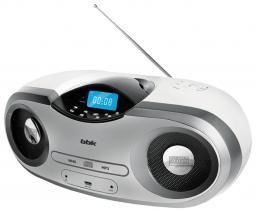 Аудиомагнитола BBK BX517U White/Silver