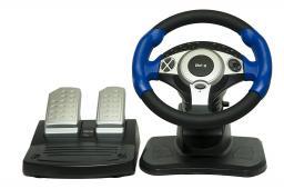 Джойстик-руль Dialog GW-201 Street Racer Il - эффект вибрации, 2 педали, USB