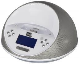 Акустическая система JBL On Time Micro для iPhone/iPod с пультом ДУ и докстанцией White
