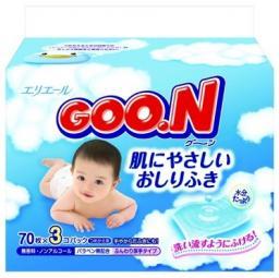 Влажные салфетки детские GOO.N 3*70шт