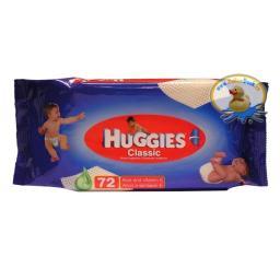 """Влажные салфетки детские Huggies """"Classic"""" 72 шт"""