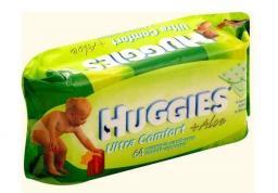 """Влажные детские салфетки Huggies """"Ultra Comfort"""" Алоэ 64 шт"""