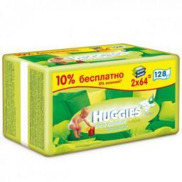 """Влажные детские салфетки Huggies """"Ultra Comfort"""" Алоэ 128 шт"""