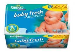 """Салфетки Pampers """"Baby Fresh"""" влажные детские №128 2*64шт"""
