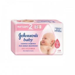 "Салфетки Johnson's Baby влажные детские ""Без отдушки"" 128 шт"