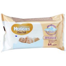 """Влажные салфетки детские Huggies """"Elite Soft"""" 64 шт"""