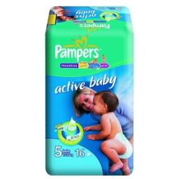 "Подгузники Pampers ""Active Baby"" Junior 11-18 кг, 16 шт"