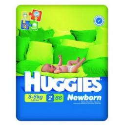 "Подгузники Huggies ""Newborn"" 2 3-6 кг, 66 шт"