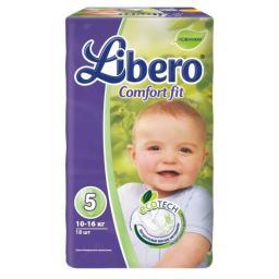 """Подгузники Libero """"EcoTech Comfort Fit"""" Maxi+ 5 10-16 кг, 18 шт"""