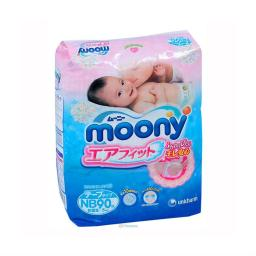Подгузники Moony для новорожденных 0-5 кг, 90 шт