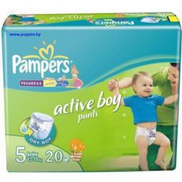 """Трусики Pampers """"Active Boy"""" Junior 12-18 кг, 20 шт"""