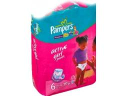 "Трусики Pampers ""Active Girl"" Extra Large 16+ кг, 19 шт"