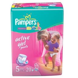 "Трусики Pampers ""Active Girl"" Junior 12-18 кг, 20 шт"