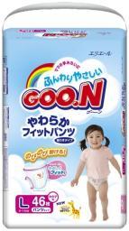 Трусики GOO.N L для девочек 9-14 кг, 46шт