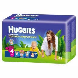 """Трусики Huggies """"Little Walkers"""" 4 9-14 кг, 34 шт"""