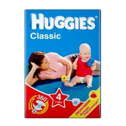 """Подгузники Huggies """"Classic"""" 4 7-18 кг, 68 шт"""