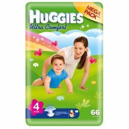 """Подгузники Huggies """"Ultra Comfort"""" Mega для девочек 8-14 кг, 66 шт"""