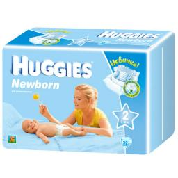 Подгузники Huggies Newborn Mega Pack 3-6 кг, 32 шт