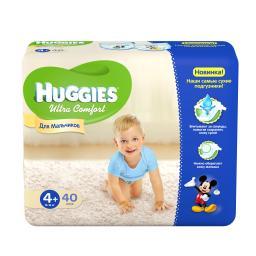 """Подгузники Huggies """"Ultra Comfort"""" Jumbo для мальчиков 10-16 кг, 40 шт"""