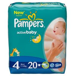 "Подгузники Pampers ""Active Baby"" 7-14 кг, 20 шт"