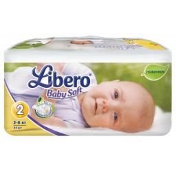 "Подгузники Libero ""Baby Soft"" Mini 3-6 кг, 44 шт"