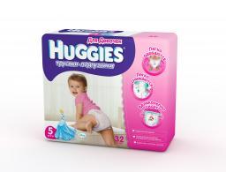 "Трусики Huggies ""Little Walkers"" Jumbo 5 для девочек 13-17 кг, 32 шт"