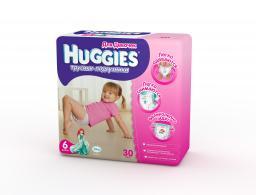 "Трусики Huggies ""Little Walkers"" Jumbo 6 для девочек 16-22 кг, 30 шт"