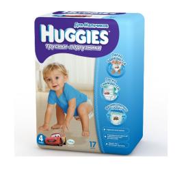 Трусики Huggies 4 для мальчиков 9-14 кг, 17 шт