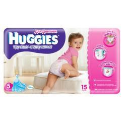 Трусики Huggies 5 для девочек 13-17 кг, 15 шт