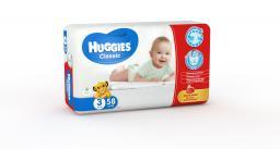 """Подгузники Huggies """"Classic"""" 3 4-9 кг, 58 шт"""