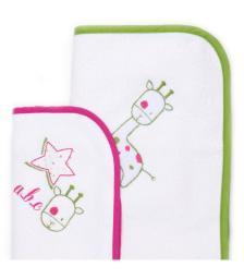 Комплект Baby Star Наматрасники непромокаемые Giraffe, 2шт., (маленький+большой)